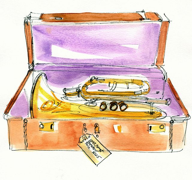 Illustration for Walter Magazine: Marsh Woodwinds