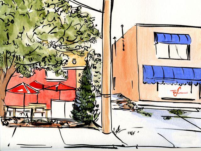 Illustration for Walter Magazine: Person Street scene