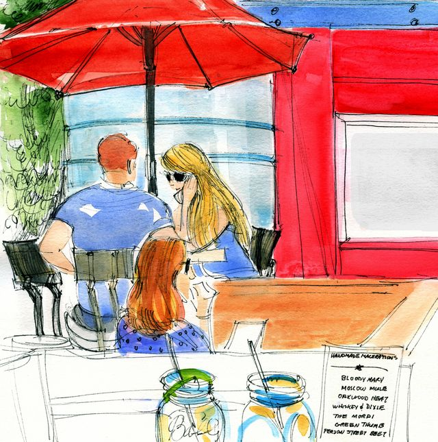 Walter Magazine illustration: Person Street couple