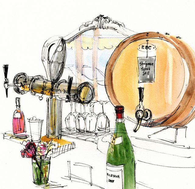 Illustration for Walter Magazine: Wine Authorities