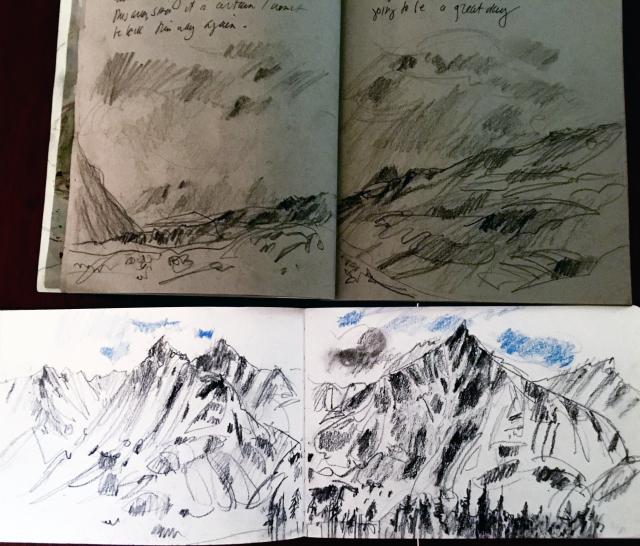 Alaska: sketchbook pair 2
