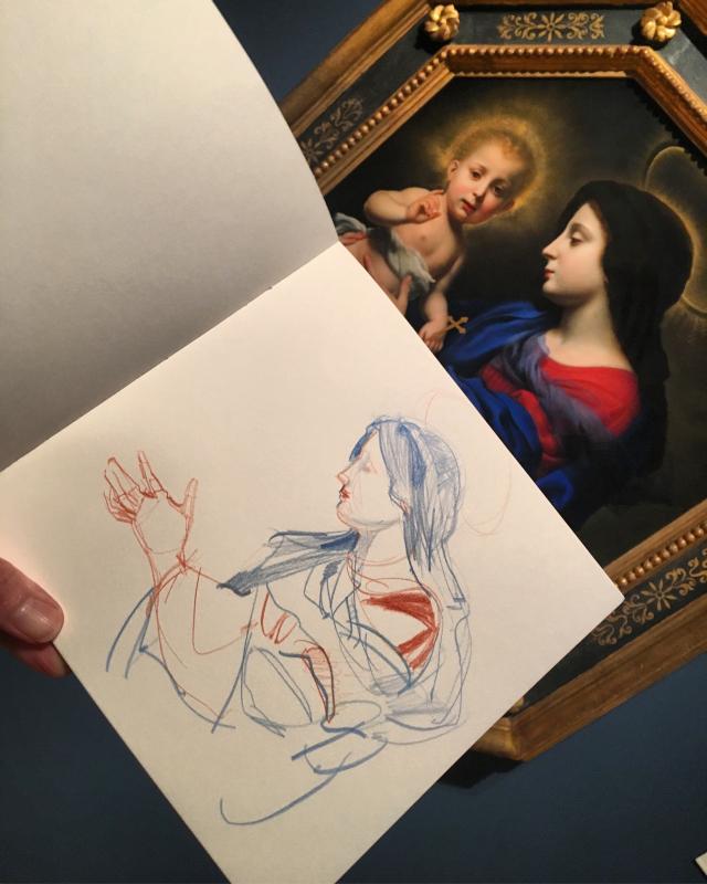 Nasher Museum, sketching Carlo Dolci, prep for November classes
