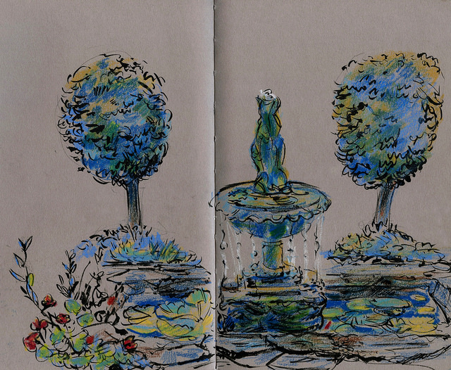 Wales: private garden in Abersoch