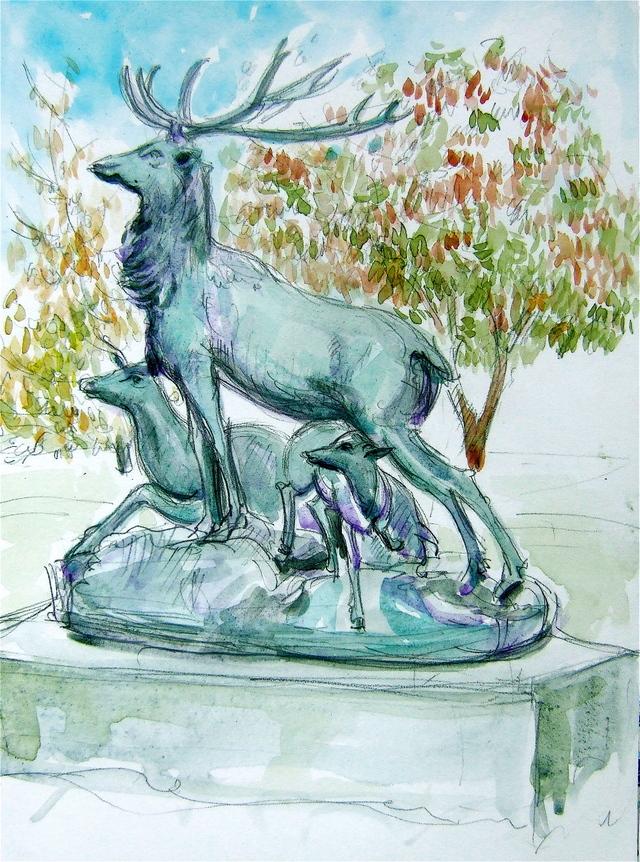 Deer at Luxembourg Gardens