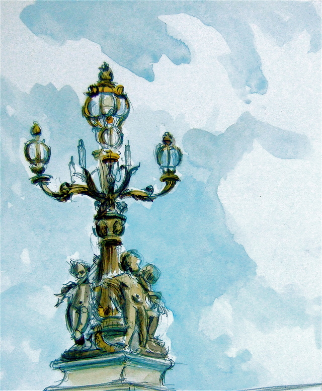 Lamp on Pont Alexandre III