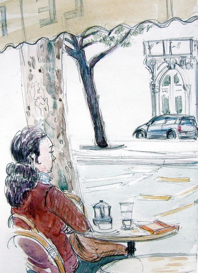 Cafe on Boulevard Saint Germain
