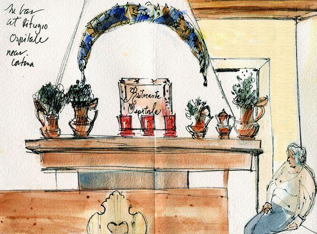 Italy: Rifugio Ospitale bar